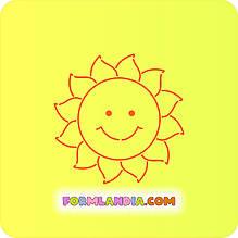 Трафарет + формочка-вырубка для пряника Солнце №5