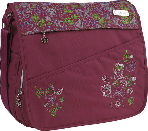 Молодежная, надежная тканевая сумка Beauty‑1 K15-865-1K бордовый