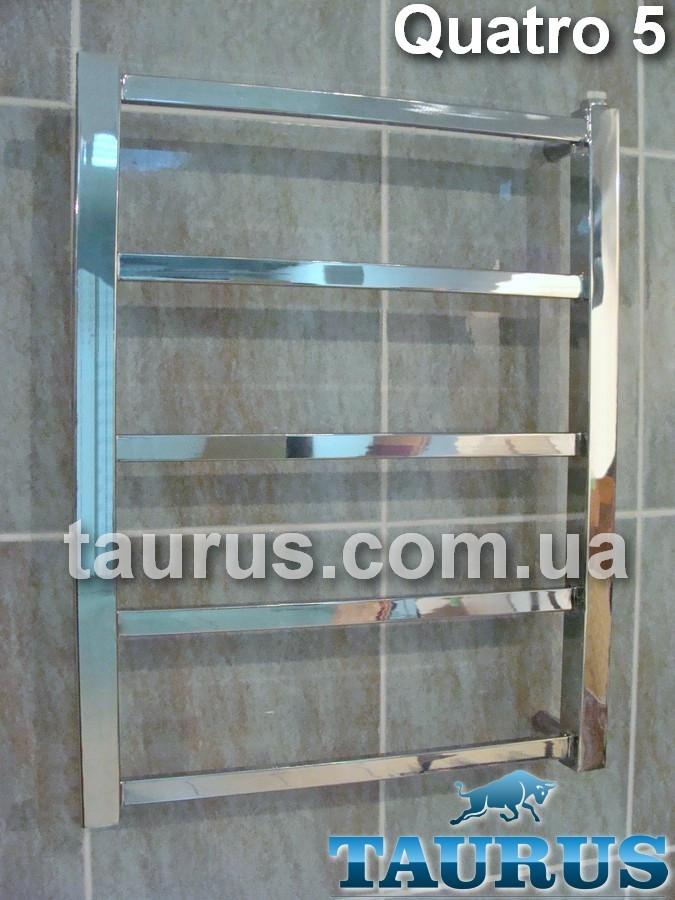 Маленький полотенцесушитель Quatro 5/ 550х450 водяной и электрический, двухконтурный