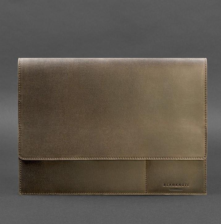 Папка кожаная для документов на магнитах коричневая А4