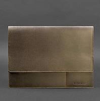 Папка кожаная для документов на магнитах коричневая А4, фото 1