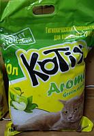 Kotix - Котикс силикагелевый наполнитель для кошачьего туалета Aroma green apple, 10 л