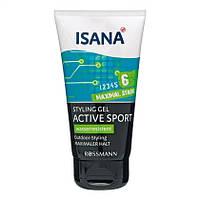 "ISANA  Styling Gel ACTIVE SPORT - Гель для укладки волос "" Спорт "" (фиксация 6) 150 мл"