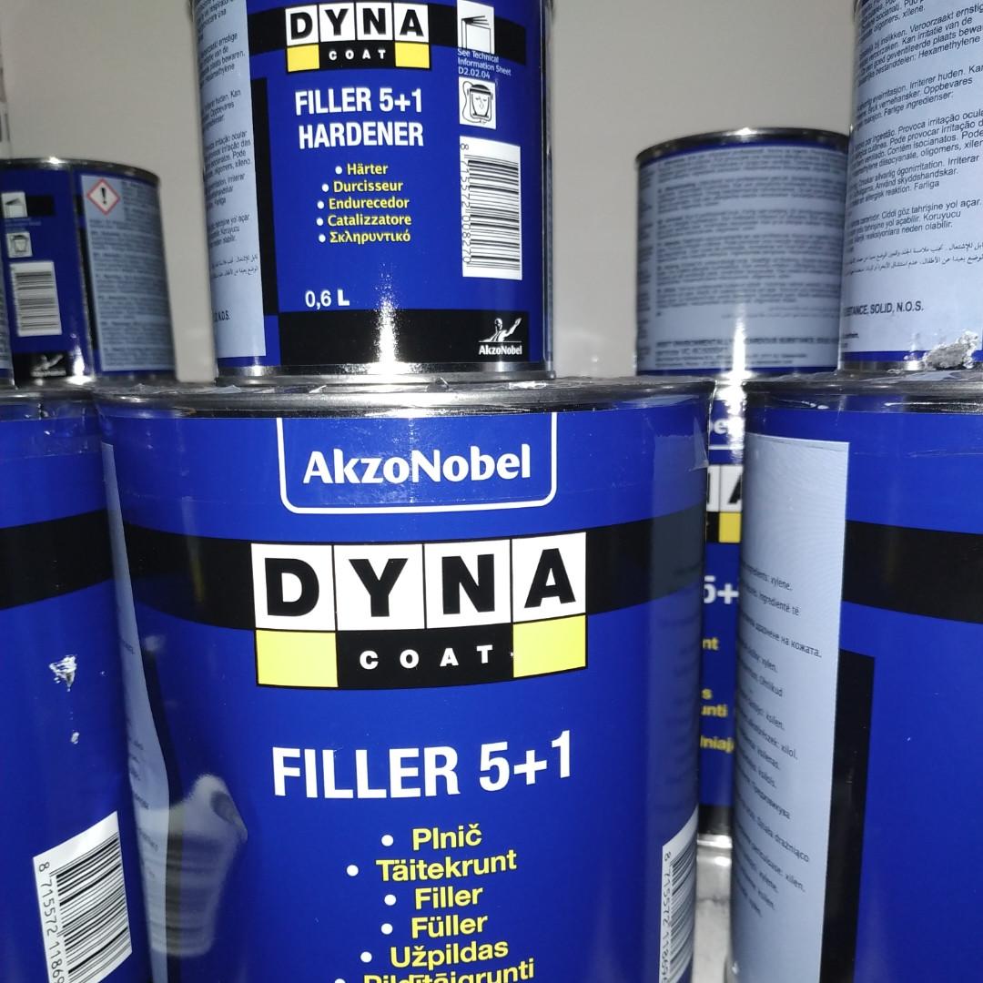 Комплект грунт автомобильный Dyna Coat 5+1 Grey 3л + отвердитель 0,6л