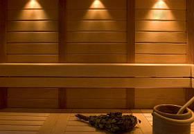Светильники, цветотерапия, световые линейки в сауне и бане
