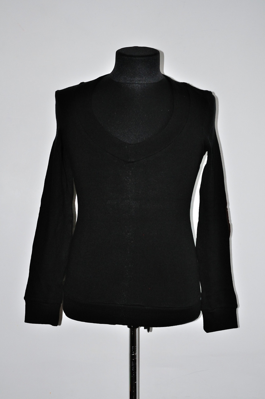 Модний чоловічий светр з глибоким вирізом під сорочку білий, чорний, коріченвий