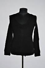 Модный мужской свитер с глубоким вырезом под рубашку белый, черный, кориченвый
