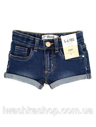 Синие джинсовые шорты на девочек 4 - 5 лет, р. 110, Denim&Co by Primark