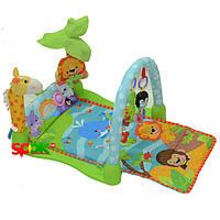 Детский музыкальный развивающий коврик Умный Малыш