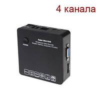 Миниатюрный IP видеорегистратор FULL HD 1080P (мод. KENVS 6200 4CH)