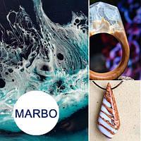 Белый краситель пигмент для смол Марбо Marbo (Италия), 15 мл, концентриров.