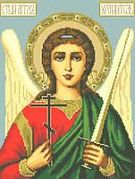 Канва с рисунком для вышивки картин нитками Ангел Хранитель  ИКан 3007