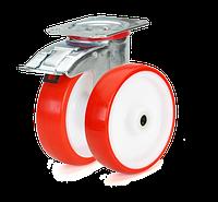 Колеса с красным полиуретановым контактным слоем