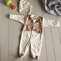 Крестильный набор для новорожденного (человечек+шапочка) Сеньор 1