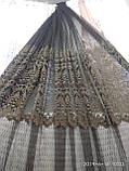 Тюль с ажурным ресунком (основа фатин) Высота 3 м, фото 2