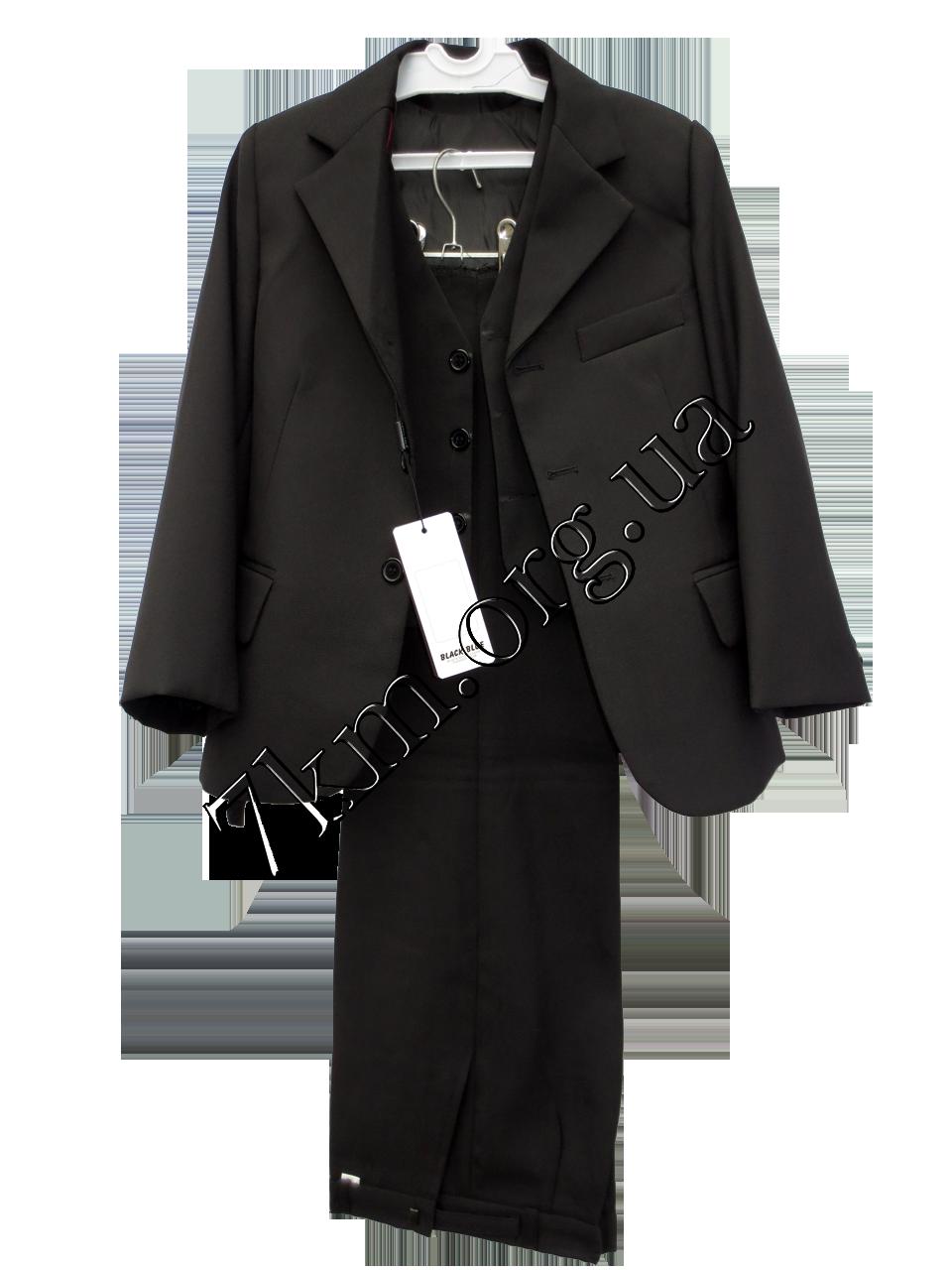 Школьный костюм форма 3-ка для мальчиков 50-56 Черный