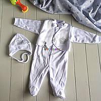 Крестильный набор для новорожденного (человечек+шапочка) Сеньор 4, фото 1