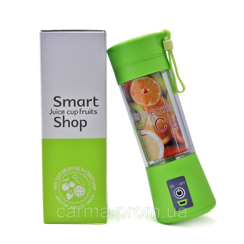 Портативный мини фитнес-блендер TV Smart Juice Cup Fruits USB зеленый