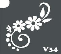 Трафарет № 034 - Цветок