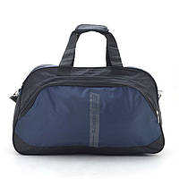 Дорожная сумка ⭐ 832 черная с темно синим, фото 1
