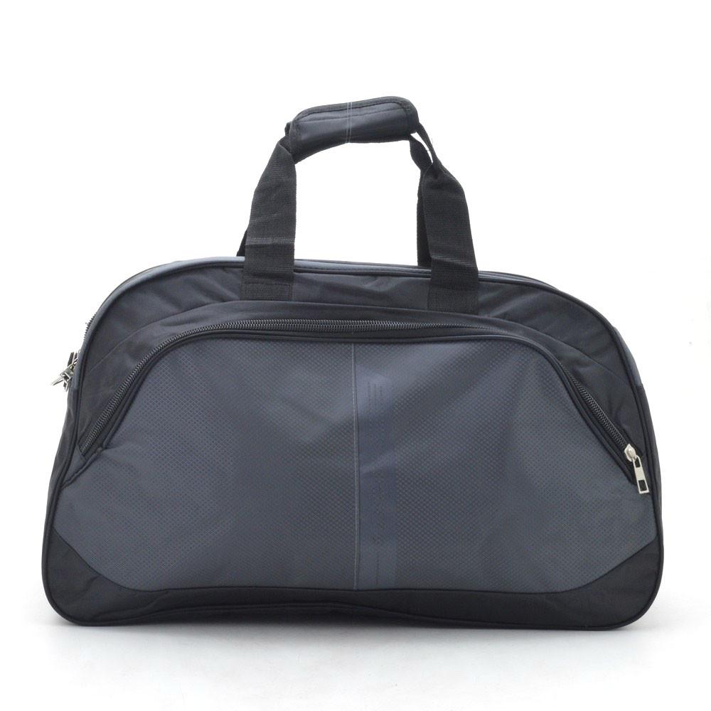 Дорожная сумка черная с серым спортиваная Sports 153706