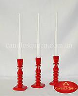 Свеча конус классическая белая 2шт 260х21 мм, фото 1