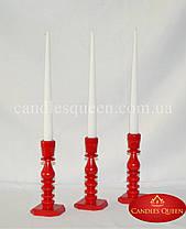 Свеча конус классическая белая 2шт 260х21 мм