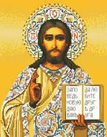 Канва с рисунком для вышивки картин нитками Христос Спаситель ИКан 3016