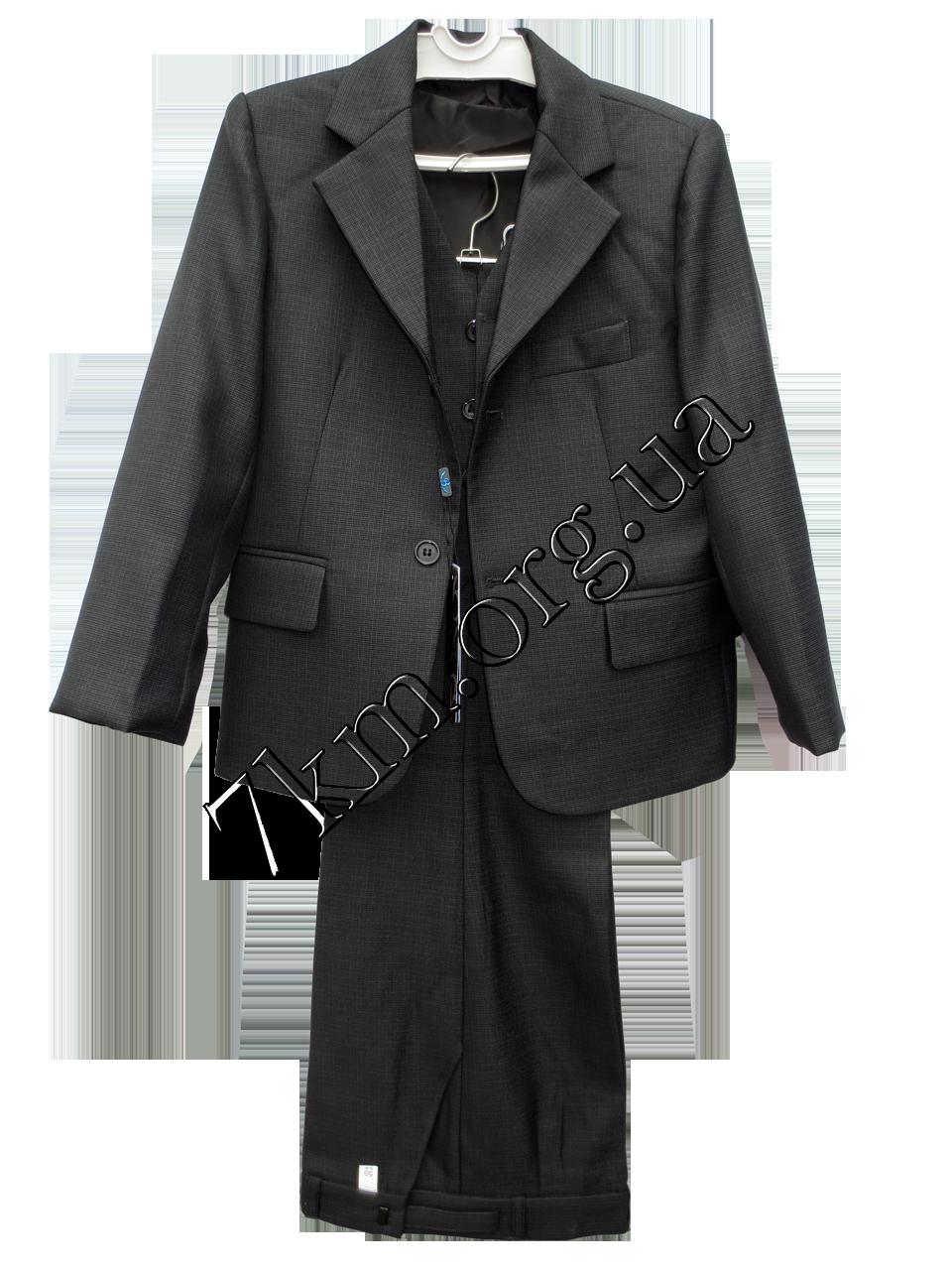 Шкільний костюм форма 3-ка для хлопчиків 50-64 р. р Сірий