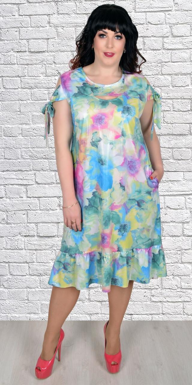 Красивое платье с пастельным рисунком