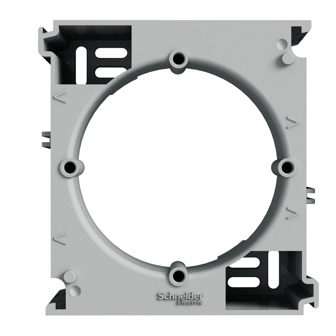 Коробка для наружного монтажа наборная Алюминий Schneider Asfora EPH6100261