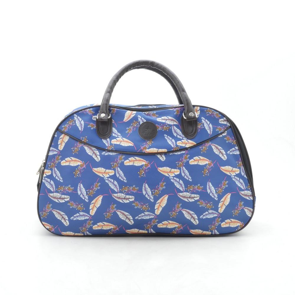 Дорожная сумка женская синяя кожзам 181258