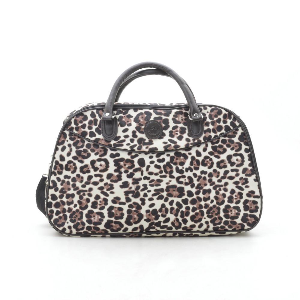 Дорожная сумка женская леопард кожзам 181259