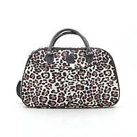 Дорожная сумка женская леопард кожзам 181259, фото 1