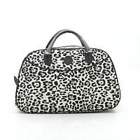 Дорожная сумка женская леопард светлая кожзам 181262, фото 1