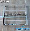 Малый квадратный полотенцесушитель Quatro 4/ 450х450 мм. Вода, тэн или 2 контура. Плоский, фото 2