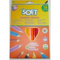 Карандаши цветные CFS Extra Soft CF15144, 18 цветов, треугольные