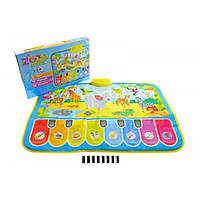 Музыкальный развивающий коврик Веселый зоопарк 3676
