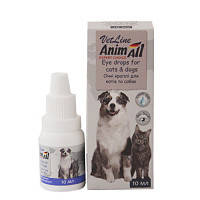 Капли AnimAll VetLine Енімал Ветлайн для догляду за очима для кішок і собак 10 мл