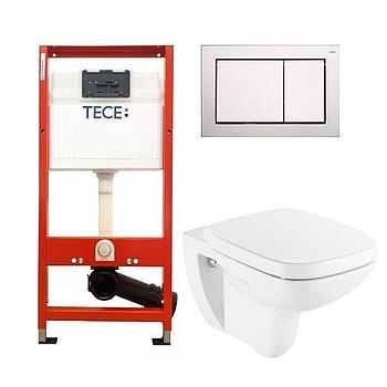 Установочный модуль TECE base 4 в 1 с клавишей Base + унитаз Roca Debba Rimless
