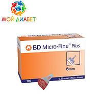 Иглы для шприц-ручек BD Micro-Fine + «МикроФайн» 6 мм (100 шт.)