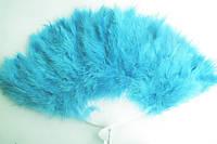 Веер пуховый голубой