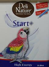 Корм для ручного годування папуг АРА Deli Nature Делі Натюре Start + High Energy Hand Rearing 2,5 кг акція