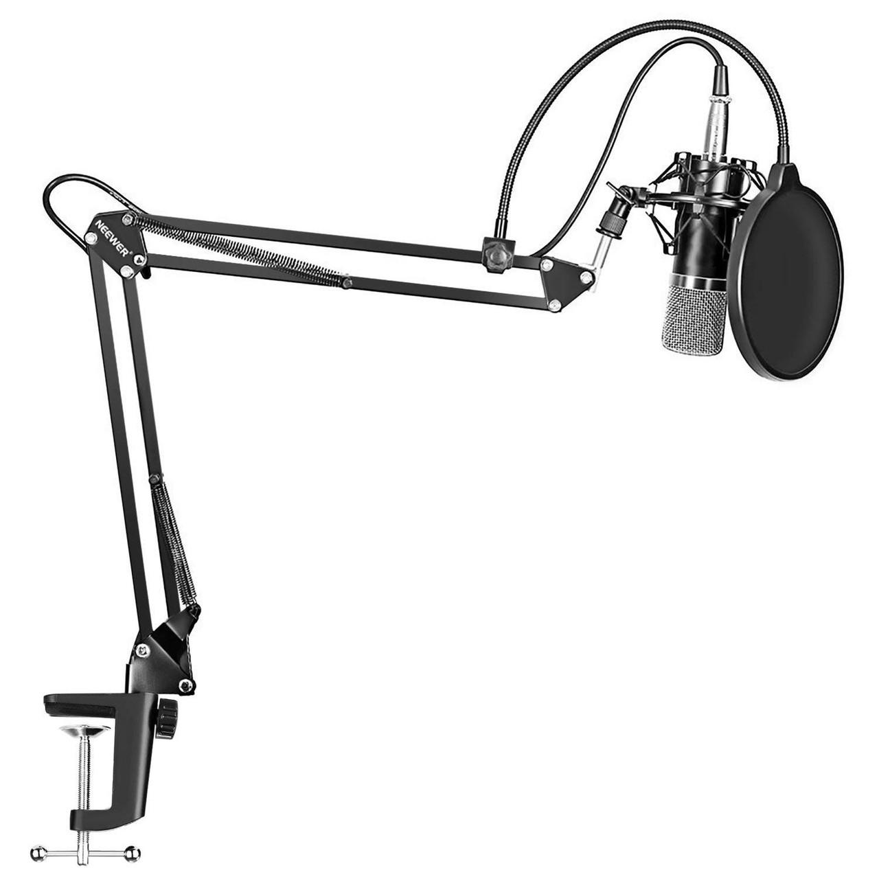 Студійний конденсаторний мікрофон BM-700 Gold з стійкою