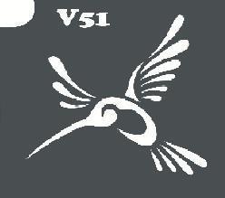 Трафарет № 051 - Колибри