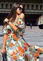 Принтованное платье макси, фото 1
