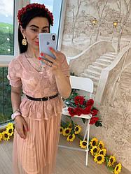Женское летнее  платье c поясом Фабричный Китай (Люкс качество) РАЗНЫЕ ЦВЕТА