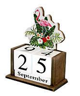 """Вічний календар """"Фламінго"""" Розмір: 14,5-7-20 див."""