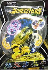 """Машинка трансформер """"Дикие Скричеры"""" жёлтый  Спаркбаг , детская игрушка"""