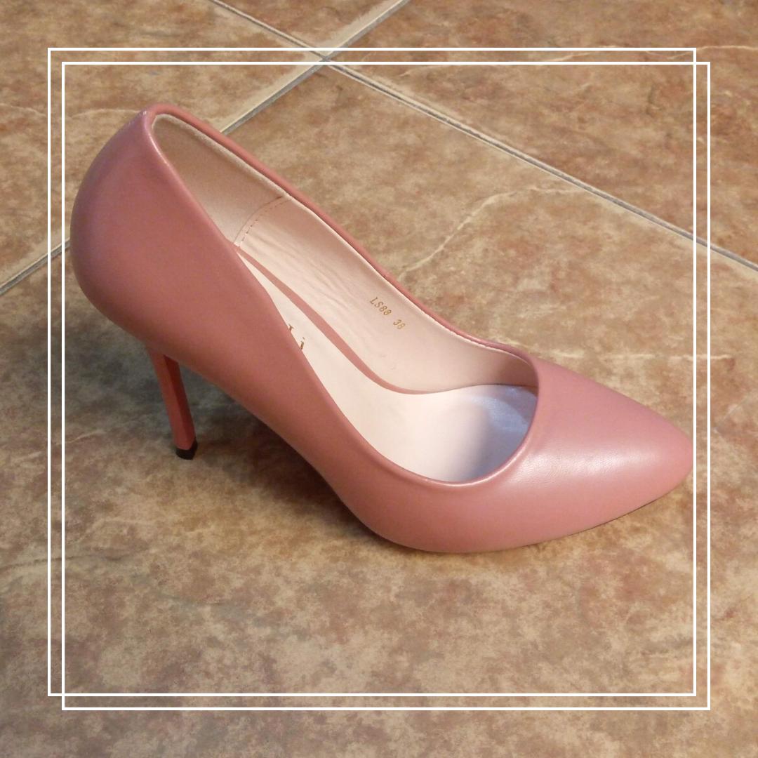 Женские туфли MeiDeLi LS88 темная пудра кожа, 38,40